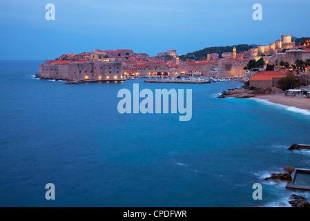 Blick auf die Altstadt Stadt in den frühen Morgenstunden, Dubrovnik, Kroatien, Europa - Stockfoto