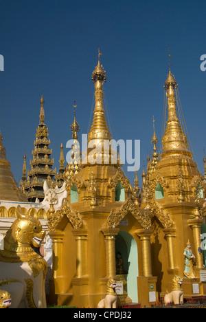 Shwedagon-Pagode in Yangon (Rangoon), Myanmar (Burma), Asien - Stockfoto