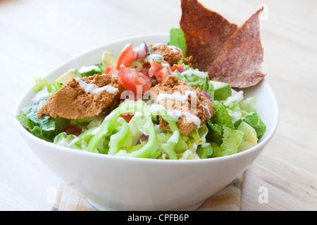 vegetarische nachos mit salsa und sour cream dips stockfoto bild 169209721 alamy. Black Bedroom Furniture Sets. Home Design Ideas