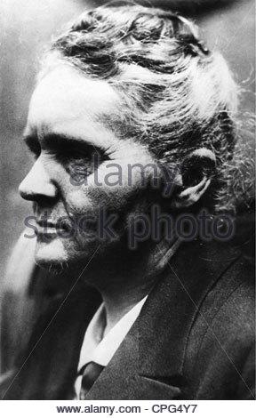 Curie, Marie, 7.11.1867 - 4.7.1934, französischer Physiker, polnischer Herkunft, Porträt, 1920er Jahre, - Stockfoto