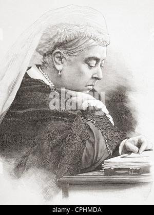 Queen Sie Victoria, Alexandrina Victoria, 1819 – 1901, sehen Sie hier im Jahre 1890. - Stockfoto