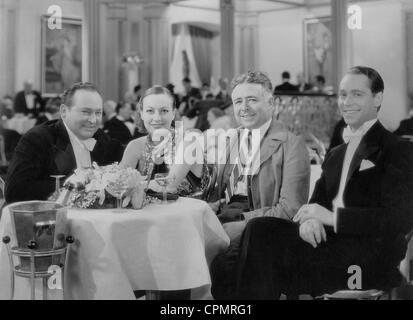 Edward Arnold, Joan Crawford, Clarence Brown und Franchot Tone, 1934 - Stockfoto