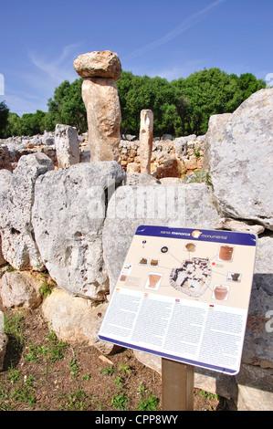Talayotic House, Torre d ' en Galmés prähistorische Stätte, Menorca, Balearen, Spanien - Stockfoto