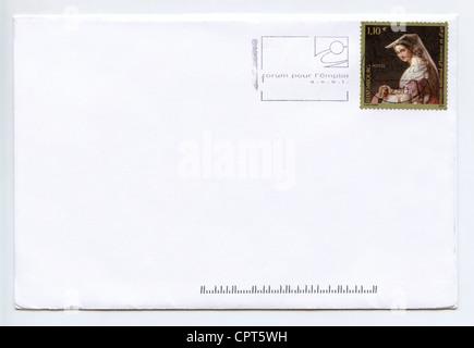 Einen Brief Mit Umschlag Mit Einem Stempel Stockfoto Bild 36726025