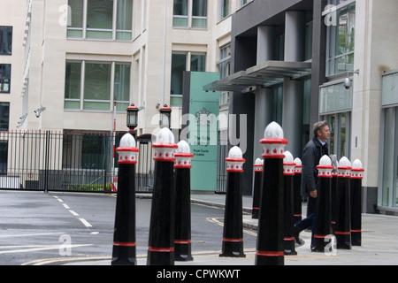 die Rollen, die Gebäude, Königliche Gerichtshöfe London - Stockfoto