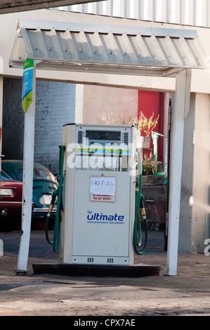 Porträtaufnahme einer Kraftstoffpumpe an einer Garage-station - Stockfoto