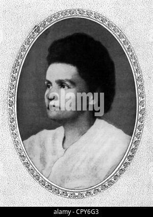 Curie, Marie, 7.11.1867 - 4.7.1934, französischer Physiker, polnischer Herkunft, Porträt, ca. 1910, - Stockfoto