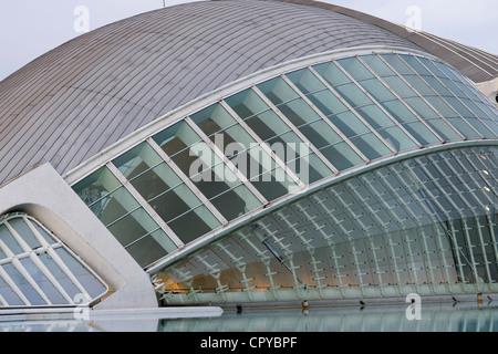 Die Stadt der Künste und Wissenschaften, entworfen von Santiago Calatrava, Valencia, Spanien - Stockfoto