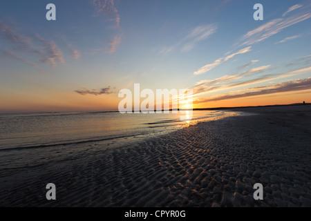 Sonnenuntergang am Baleshare - äußeren Hebriden (Schottland) - Stockfoto