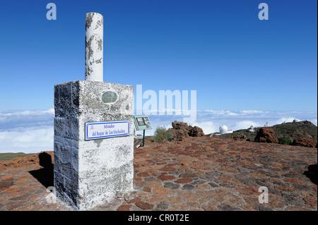 Mirador Roque de Los Muchachos Aussichtspunkt, La Palma, Kanarische Inseln, Spanien, Europa, PublicGround - Stockfoto