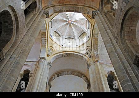 Abbataille Sainte Foy Abteikirche, Via Podiensis oder Chemin de St-Jacques oder französischen Pilgerweg des Heiligen - Stockfoto