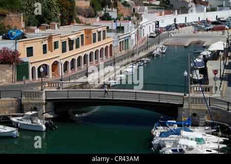 Hafen von Ciutadella Menorca, Spanien, Europa - Stockfoto