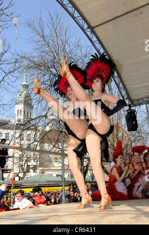 Prinzengarde der Narrhalla, Karneval-Tanzgruppe, Viktualienmarkt, München, Oberbayern, Deutschland, Europa, PublicGround - Stockfoto