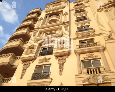 Luxuriöse Gebäude in noblen Gegend von Heliopolis Kairo Ägypten - Stockfoto