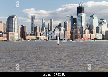 One World Trade Center Tower im Bau, Manhattan, New York, NY - Stockfoto