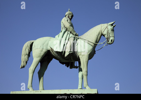 William I, 22.3.1797 - 9.3.1888, Deutscher Kaiser 18.1.1871 - 9.3.1888, Reiterstatue, Goslar, Additional-Rights - Stockfoto
