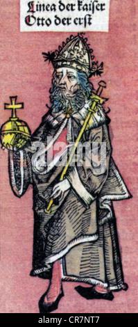 """Otto I """"die Großen"""", 23.11.912 - 7.5.973, Kaiser des Heiligen Römischen Reiches 2.2.962 - 7.5.973, volle Länge, - Stockfoto"""
