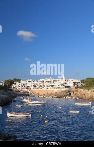 Spanien, Balearen, Menorca, Angeln Dorf Binibequer Vell - Stockfoto