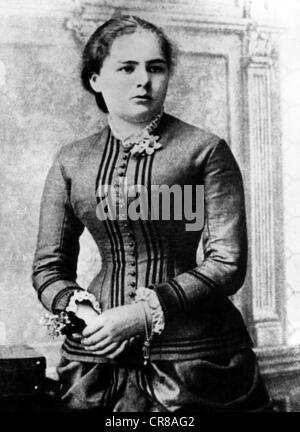 Curie Marie, 7.11.1867 - 4.7.1934, französischer Physiker, polnischer Herkunft, halber Studiengang, als Highschool, - Stockfoto