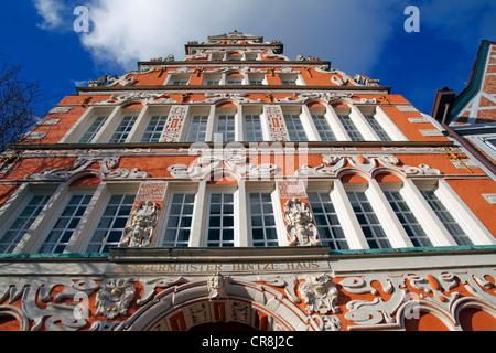 Historischen Bürgermeister-Hintze-Haus-Haus in der alten Stadt Stade, Niedersachsen, Deutschland, Europa - Stockfoto