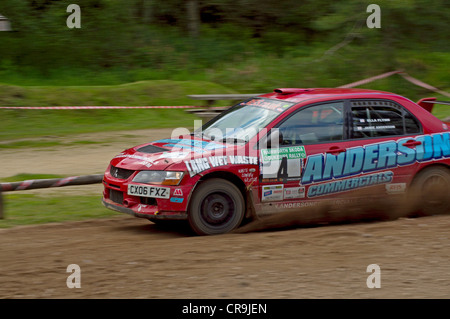 Rainworth Skoda Dukeries Rally 2012 im Sherwood Forest, Nottinghamshire - Stockfoto