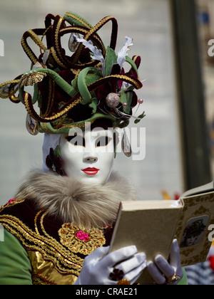 Venezianische Maske, Karneval in Venedig, Veneto, Italien, Europa - Stockfoto