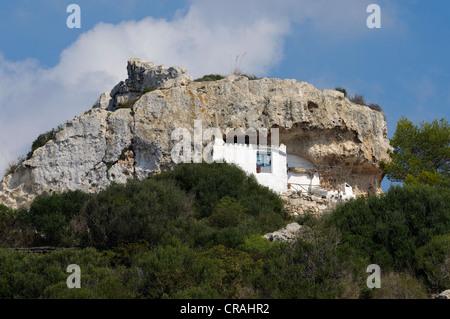 Rock, Wohnung, Son Bou, Menorca, Balearen, Spanien, Europa - Stockfoto