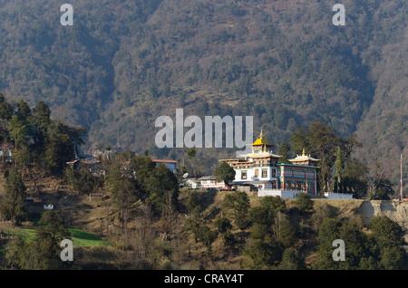 Tawang Khinmey Nyingma Kloster in der Nähe von Tawang, Arunachal Pradesh, Indien, Asien - Stockfoto
