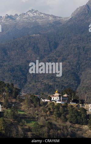 Tawang Khinmey Nyingma Kloster in der Nähe von Tawang, Arunachal Pradesh, Indien, Himalaya, Asien - Stockfoto