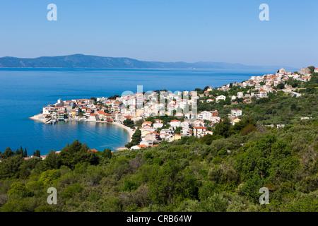 Blick Richtung Igrane, Mitteldalmatien, Dalmatien, Adria, Kroatien, Europa, PublicGround - Stockfoto