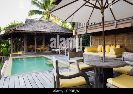 Privaten Swimmingpool in einem Luxushotel, Six Senses Resort, Koh Yao Noi, Phang Nga, Thailand, Südostasien, Asien - Stockfoto