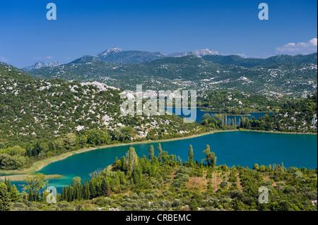 Seen von Bacina, Dalmatien, Kroatien, Europa - Stockfoto