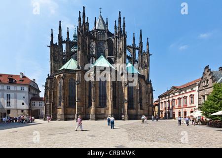 St. Vitus Cathedral, Prager Burg Hradschin Burg Bezirk, UNESCO-Weltkulturerbe, Prag, Tschechische Republik, Europa - Stockfoto