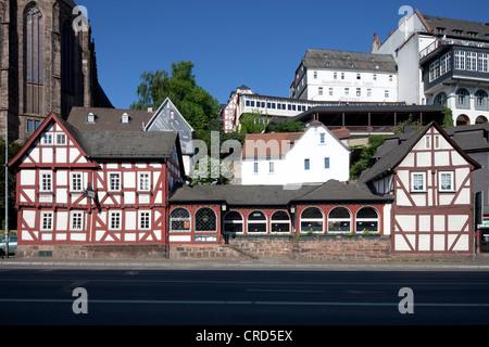 Alte Brauerei, Fachwerkhaus, Unterstadt, Marburg, Hessen, Deutschland, Europa, PublicGround - Stockfoto