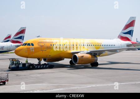 British Airways Firefly Airbus A319 - Stockfoto