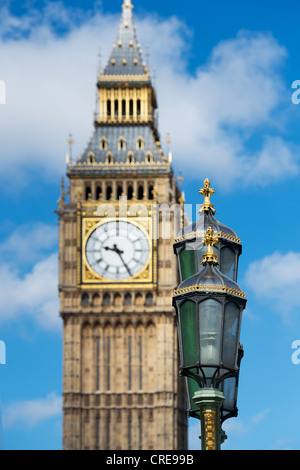 alten stra enlaterne und uhrturm big ben houses of parliament london england vereinigtes. Black Bedroom Furniture Sets. Home Design Ideas