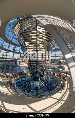 Im Inneren der Reichstagskuppel in Berlin, Deutschland - Stockfoto