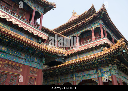 Lama Tempel Yonghegong Dajie, in Peking, China - Stockfoto