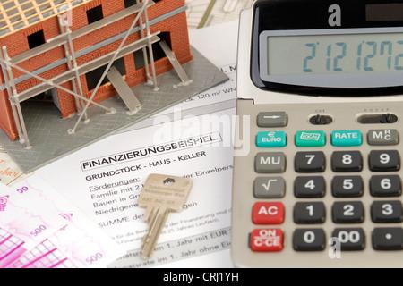 symbolisch für die Baufinanzierung - Stockfoto