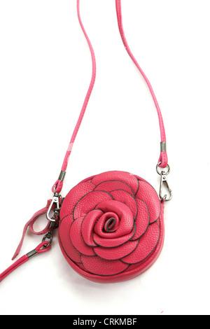rosa rose kleine Ledertasche in Italien hergestellt - Stockfoto