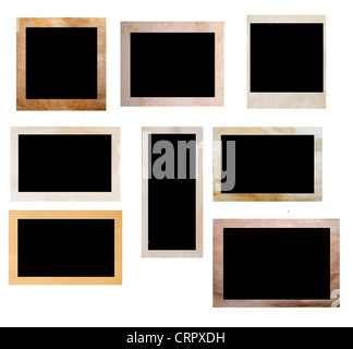 polaroid alte foto rahmen stack isoliert stockfoto bild 75446850 alamy. Black Bedroom Furniture Sets. Home Design Ideas