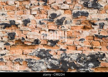 Nahaufnahme der alten Wand gebrochen - Stockfoto