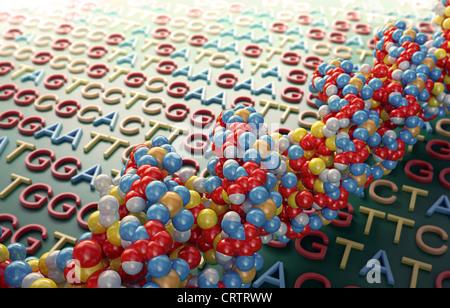 DNA-Sequenzierung Konzept Abbildung - Stockfoto