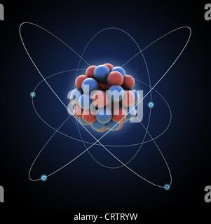 Atom - Computer generierte Abbildung - Stockfoto
