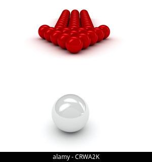 Management-Konzept auf weißem Hintergrund Stockfoto