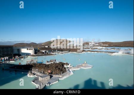 Blue Lagoon, Grindavik in der Nähe von Reykjavik, Island - Stockfoto