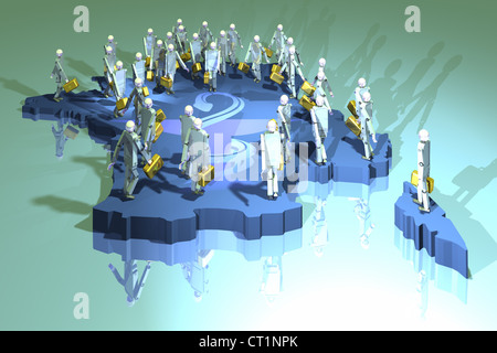MEDIZINISCHEN DEMOGRAFIE - Stockfoto