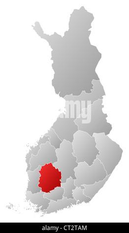 Finnland Karte Regionen.Politische Karte Von Finnland Mit Mehreren Regionen Wo