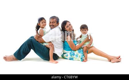 indische asiatische Familie Spaß - Stockfoto