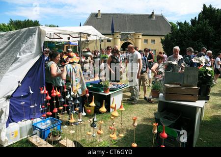D-Krefeld, Rhein, Niederrhein, Rheinland, Nordrhein Westfalen, NRW, D-Krefeld-Linn, Hobbits Flachsmarkt Burg Linn, - Stockfoto